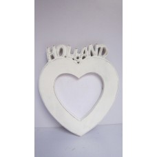 S  HOLLAND HEART PHOTO FRAME DECO WHOTE