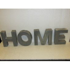 """Letters grey """"Home"""" staand"""