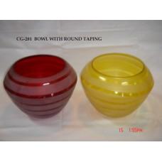 bowl gestreepd yellow