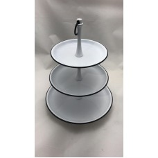 Etagere 3-laags wit