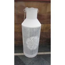 Lantaarn melkbus wit groot