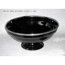 bowl op voet black/nickel