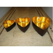 bowl hart s/3 gold/brown