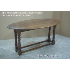 ovale klaptafel