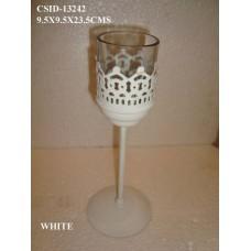 IRON T/L ON BASE MED W/glas White