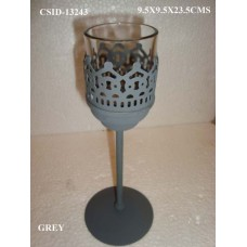 IRON T/L ON BASE MED W/glas Grey