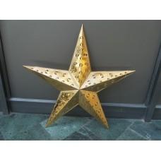 Star beaded single 75 ant.brass