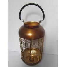 Lantaarn fijn mid copper burnt