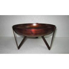 Bowl on 3 base small copper burnt
