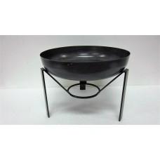 Bowl on 3 base small grey zinc