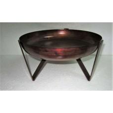 Bowl on 3 base big copper burnt