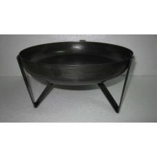 Bowl on 3 base big grey zinc