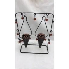 2 hanger rek brown