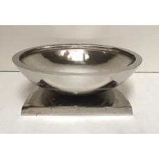 Bowl rond 4kant voet gr nickle