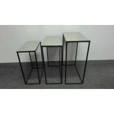 Tafel rechth s/3 alu/black