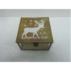 glass box brown deer small