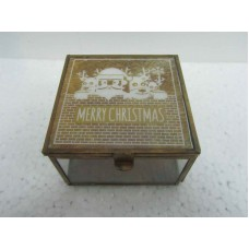 glass box brown merry x-mass small