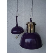 Hanglamp 20 cm rond nickle/purple