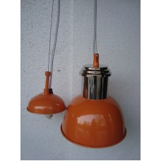 Hanglamp 20 cm rond nickle/orange