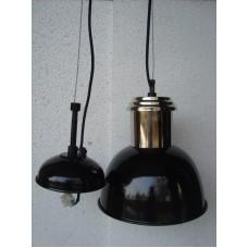 Hanglamp 20 cm rond nickle/black