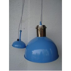 Hanglamp rond 27 cm nickle/blue