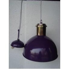 Hanglamp rond 27 cm nickle/purple