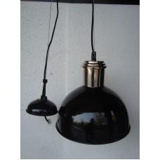 Hanglamp rond 27 cm nickle/black