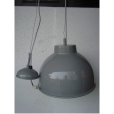 Hanglamp rond 31 cm light grey