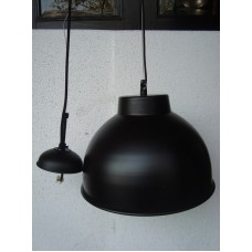 Hanglamp rond 31 cm black