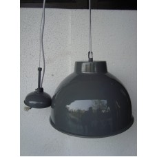 Hanglamp rond 31 cm dark grey