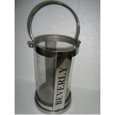 lantaarn ''beverly'' groot blank glas