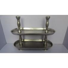 Alu tray 2-laags ovaal raw