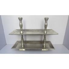 Alu tray 2-laags rechthoek raw
