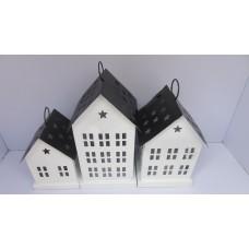 House S/3 square white/black