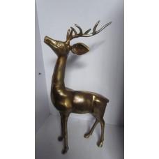 Hert gewei staand XL brass
