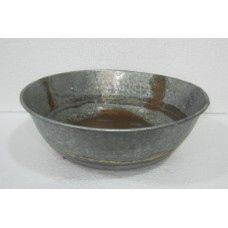 Bowl round hammered galv rust