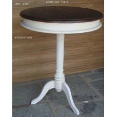 bartafel rond white/brown
