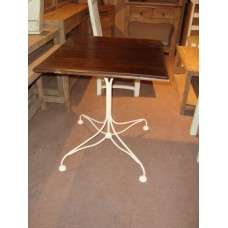 tafel 4kant i/w wh/brown