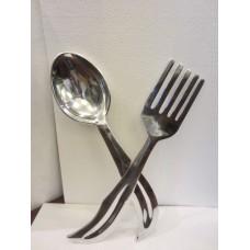 alu lepel + vork wand