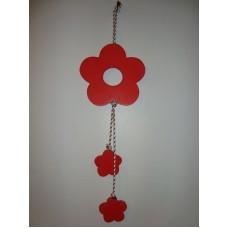 3 bloem aan koord rood