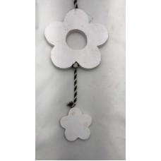 3 bloem aan koord wit