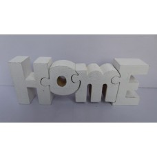 """Hout puzzle """"home"""" white"""