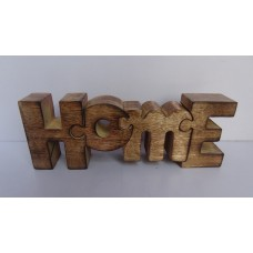 """Hout puzzle """"home"""" burnt"""