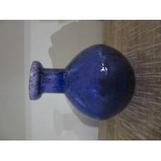 1bloem vaas rond bol stones blue purple