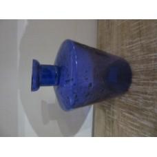 1bloem vaas rond taps stones blue purple