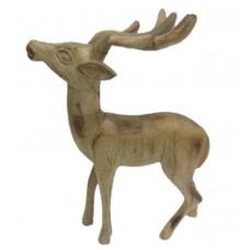 Wood reindeer antler big high