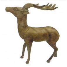 Wood reindeer antler low big